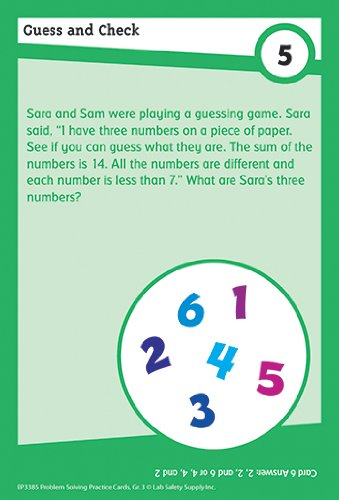 Math Practice Cards: Problem Solving, Grade 3 (Brain Busters series)