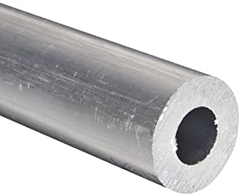 """Aluminum 6061-T6 Extruded Round Tubing,  ASTM B210,  3"""" OD,  2.625"""" ID,  12"""" Length"""