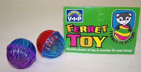 Vo-Toys Ferret Beaded Buzz Balls 2 pack Toy