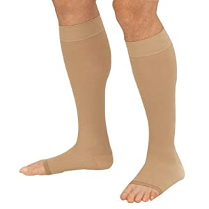 Truform 20-30 Hg Below Knee Open-Toe Compression Stockings