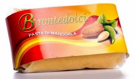 Brontedolci - Pâte Amande Massepain (35% d'amandes Sicile) pour la préparation de délicieuses crèmes glacées, boissons et Granita - gr. 250