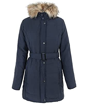 Amazon.com: KRISP Womens Faux Fur Collar Winter Coat