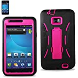 Silicone Case Protector Cover Hybrid Case Samsung Galaxy S II (I777) Hot Pink SLCPC06-SAMI777BKHPK (for AT&T only)