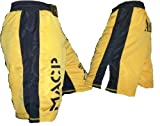 Modern Army Combatives Gold and Black Fight Shorts Size 36