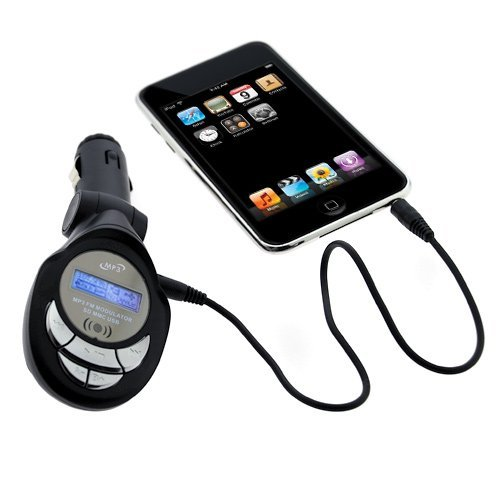 Gtmax 3 In 1 Sd/Mmc/Usb/Mp3 Wireless In Car Fm Transmitter With Remote For Sony Xperia Zl, Xperia Z, Xperia Tl Lt30At And Sony Walkman Video Mp3 Player
