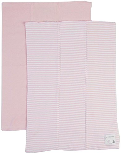 Burt's Bees Baby Baby Girls' 2 Pack Striped Burp Cloths (Baby) - Blossom - One Size