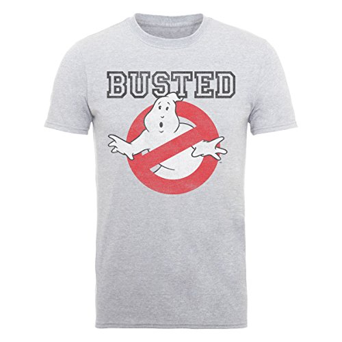 Ghostbusters Men's Busted Short Sleeve T-Shirt, Grey