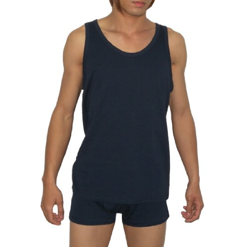 Mens EA Sports Underwear Tank Top And Boxer Shorts Set - Blue -Size: L