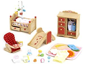 sylvanian families baby room set spielzeug. Black Bedroom Furniture Sets. Home Design Ideas