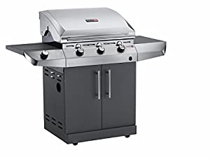 67cm Performance Gas Barbecue with Side Shelf Finish: Black Stainless Steel