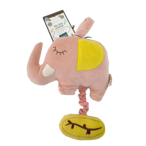 Miyim Musical Pull Toy Elephant (Pink) (Japan Import) front-811727
