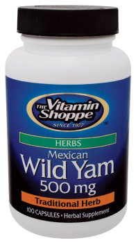 Vitamin Shoppe - Mexican Wild Yam, 500 mg, 100 capsules