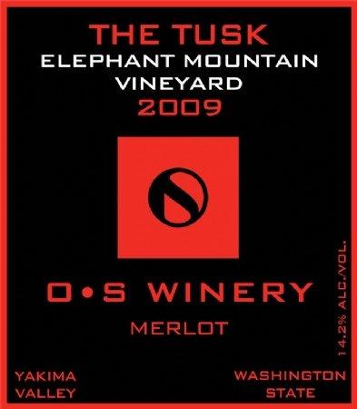 "2010 O S Winery ""The Tusk"" Elephant Mountain Vineyard Merlot 750 Ml"