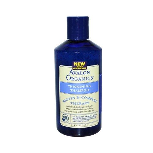 Bulk Saver Pack 8X14 Fz : Avalon Organics Thickening Shampoo Biotin B Complex Therapy
