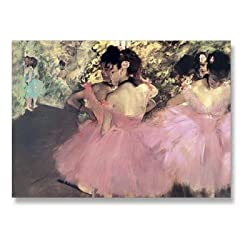 "Dancers in Pink - 5"" x 7"" Museum Quality Greeting Card"