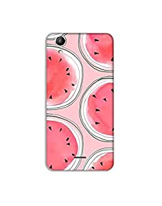 Canvas Selfie 3 (Q348) ht003 (12) Mobile Case from Mott2 - Red Watermelon - Cute (Limited Time Offers,Please Check the Details Below)