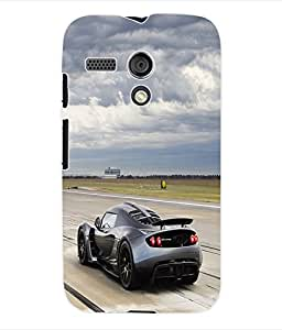 Fuson 3D Printed Car Designer Back Case Cover for Motorola Moto G - D665