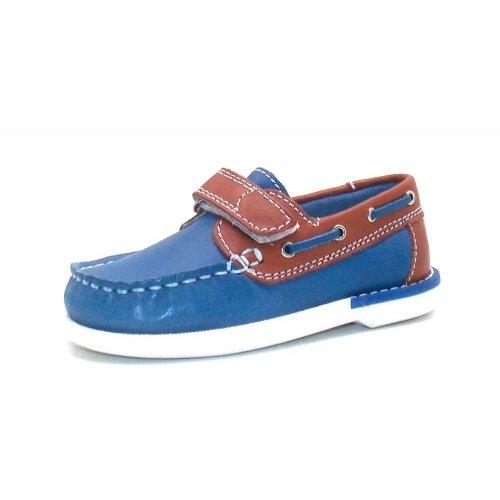 Seaside Mokassin Boat Shoe Children Shoe Spring shoes 7420511 Blue Brown