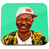 Martin Luther King Wooden Coaster - Pop Art Modern Contemporary Decorative Art Coaster, Hipstory Project By Amit...
