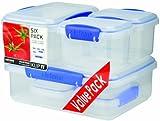 Sistema Klip It Storage Container, 6 Pack