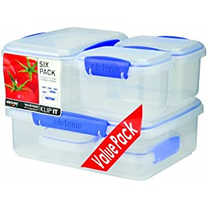 Sistema Klip It Storage Container, 6 Pack