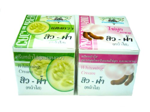 2 Thanyaporn Cucumber & Chinese Herb, Pearl, Tamarind Formula Whitening Cream Amazing Of Thailand