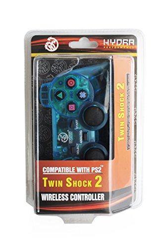 Hydra Performance® Wireless Controller 2.4G Clear Blue Compatible with Sony Playstation 2 PS2 (Sony Ps2 Wireless Controller compare prices)