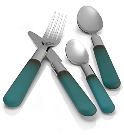 16 Piece Coloured Handle Cutlery Set Blue Or Red Was