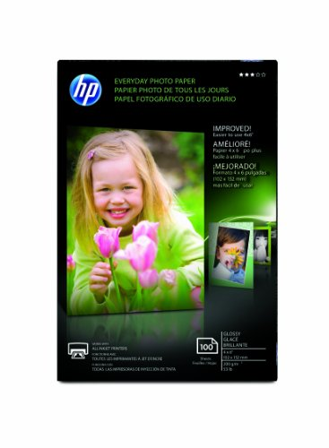 HP CR759A Everyday Photo Paper, Glossy (4×6″, 100 sht)