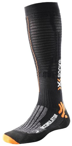 X-Socks Accumulator Run - Calcetines de compresión para deporte negro...