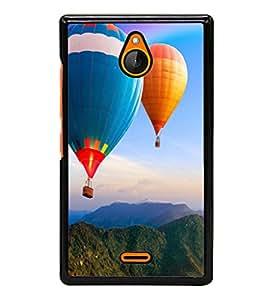 printtech Hot Air Balloon Colored Back Case Cover for Nokia XL