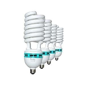 LimoStudio Digital Full Spectrum Light Bulb, 45W Photo CFL 6500K, Daylight, pure white, Case of 4, AGG117