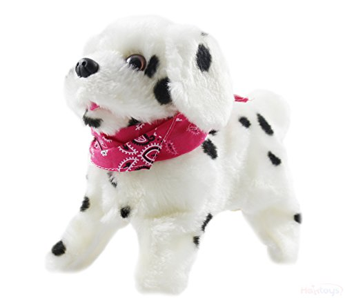 Haktoys My Little Puppy - Flip over Puppy, Walks, Sits, Barks - Dalmatian Dog Toy