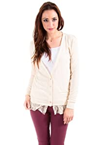 Sparkling Laced Back Cardigan in Light Pink