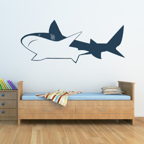 Shark Outline Decorative Wall Art Stickers Decal