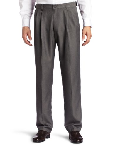 Thanks to their hidden expandable waistband and moisture-wicking technology, these men's Haggar pants deliver all-day comfort. Classic fit provides standout style.