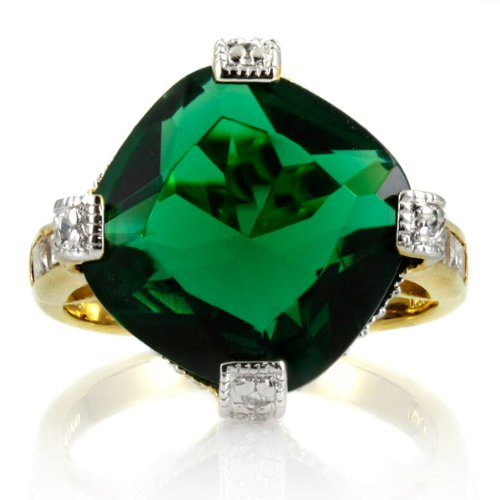 Katharine's Cocktail Ring - Simulated Emerald - Final Sale