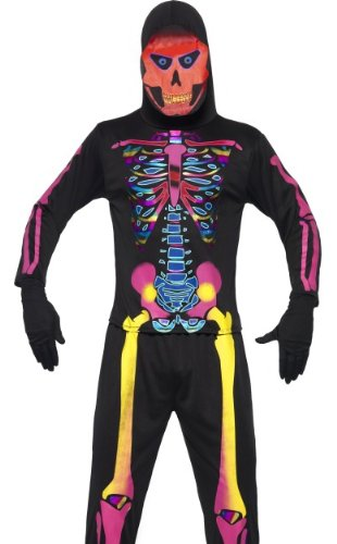 Smiffys Men's Neon Skeleton Bones Costume