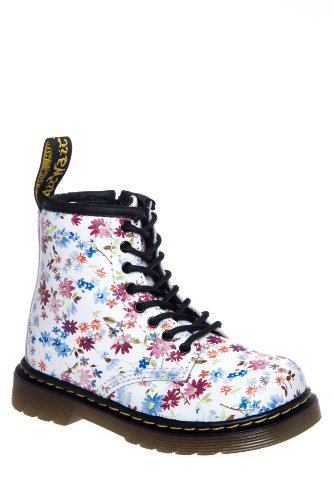 Dr. Martens Toddler's Brooklee Little Flowers Combat Boot
