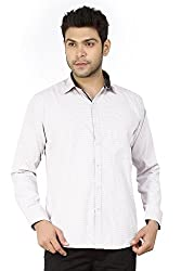 Basilio's Brown Colored Semi Formal Shirt For Men-XL