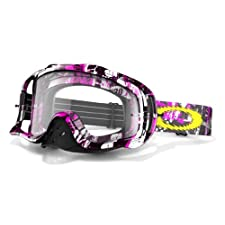 Oakley Crowbar MX One Icon Goggles with Clear Lens (Pink, One Size)