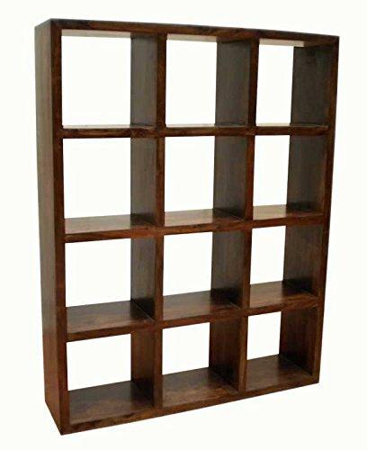 Libreria in legno massello, larghezza 140 cm, profondità 35 cm, altezza 180 cm