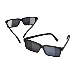 Spy Look Behind Sunglasses