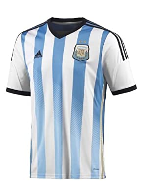 Adidas  Men's Argentina Home Jersey (Large) (White/Blue/Black)