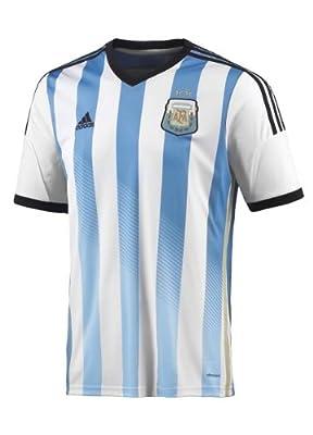 Adidas  Men's Argentina Home Jersey (Large) (White/Blue/Black)