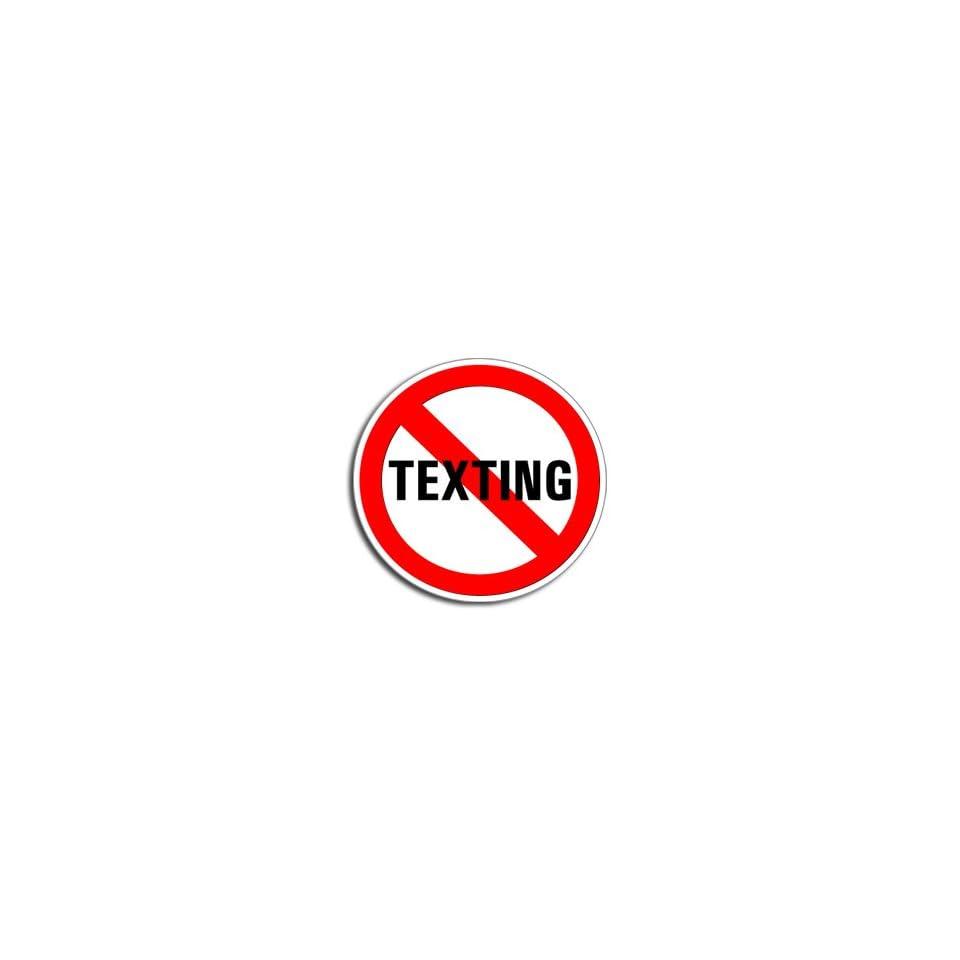 NO TEXTING   Window Bumper Laptop Sticker