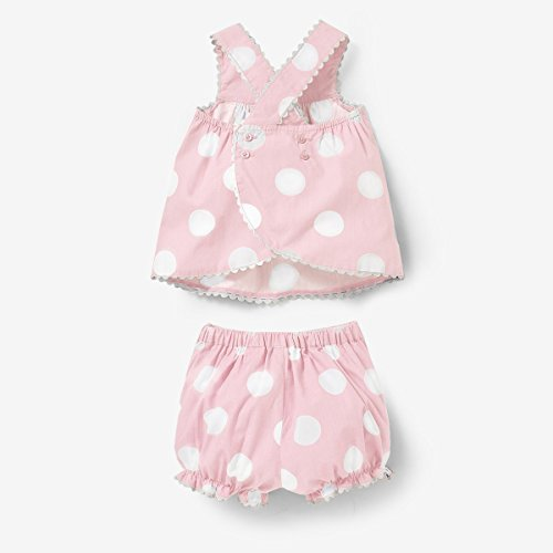 R Baby Baby Girls 2-Piece Polka Dot Strappy Dress And Bloomers Set