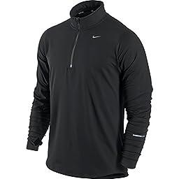 Men\'s Nike Element Half-Zip Men\'s Running Top Black/Reflective Silver Size Small