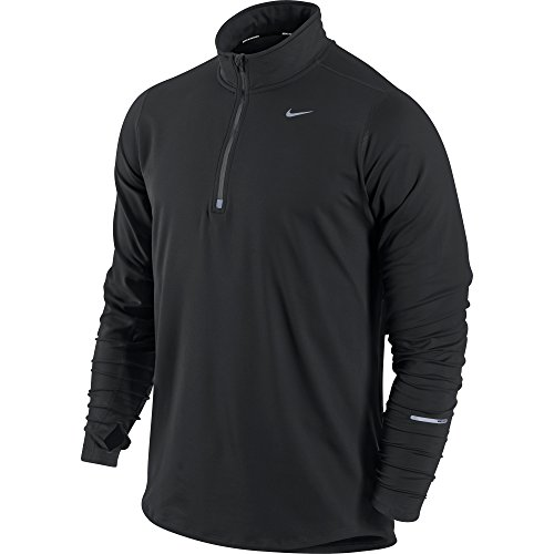 Men's Nike Element Half-Zip Men's Running Top Black/Reflective Silver Size Small