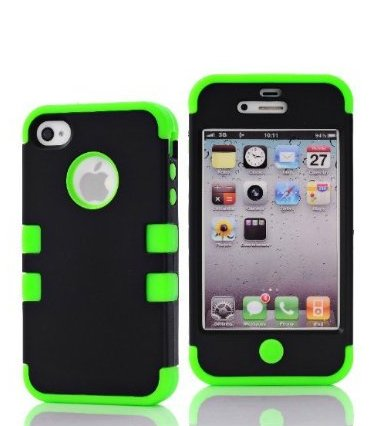 Canica-5S07 3In1 Soft Skin +Silicone Design Hybrid Case For Apple Iphone5 5S